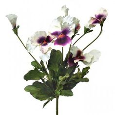 This large artificial Pansy bush with stunning large white and purple flowers and bright green foliage is ideal for use indoors or outdoors. Artificial Plants, Bright Green, Large White, Pansies, Purple Flowers, Indoor, Outdoors, Beautiful, Interior