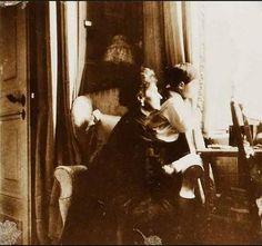Empress Alexandra and Tsarevich Alexei in the Mauve Room: 1910.