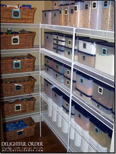 a well organized & labeled pantry