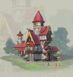 ArtStation - Small houses, daqing zhang
