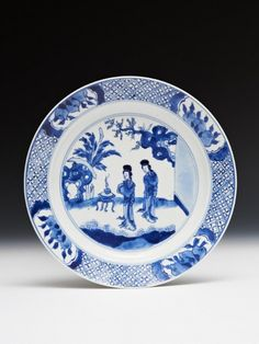 Chinese porcelain plate, Kangxi reign, Qing dynasty