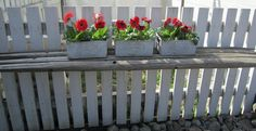 Use old hay stakes to make a stand for flowers