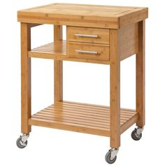 Add a touch of country charm to your kitchen with the Boraam Mariko Bamboo Kitchen Cart - Solid Bamboo Top . Beautifully designed, this kitchen cart. Food Trolley, Kitchen Trolley, Island Kitchen, Countertops, Low Shelves, Shelving, Kitchen Pantry Cabinets, Studio Kitchen, Furniture