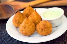 Coxinha. Little parcels with chicken inside found everywhere.