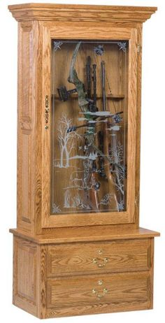 Amish Single Door 8-gun Cabinet
