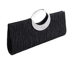 clorislove  Ladies Satin Rhinestone Pleated Evening Party Wedding Clutch Bag Handbag (Black) No description (Barcode EAN = 0643485682929). http://www.comparestoreprices.co.uk/december-2016-4/clorislove-ladies-satin-rhinestone-pleated-evening-party-wedding-clutch-bag-handbag-black-.asp