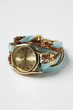 anthropologie wrap watch love it Fashion Mode, Fashion Beauty, Wrap Watches, Fancy Watches, Stylish Watches, Fashion Accessories, Jewelry Accessories, Jewelry Box, Jewelry Watches