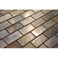 Copper Backsplash, Mosaic Backsplash, Glass Mosaic Tiles, Backsplash Ideas, Backsplash Arabesque, Stove Backsplash, Beadboard Backsplash, Herringbone Backsplash, Bath Tiles