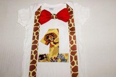 Madagascar Birthday shirt Zoo cake smash zoo animals by RYLOwear, $19.95