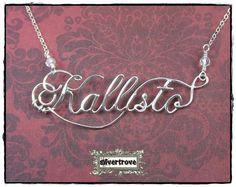 Personalized+Sterling+Silver+Calligraphy+Script+por+SilverTrove,+$64.97