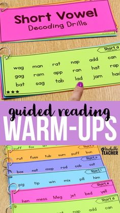 These are perfect for decoding drills at the beginning of reading intervention blocks. Students read the words across the row. Once they are able to fluently read a page, we move on to the next | struggling reading | cvc reading activities kindergarten | reading work second grade | printable reading worksheets | teaching short vowels | cvc sight words | reading worksheets | decoding printable | early reading activities | short vowel sounds