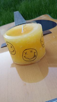 Yellow Nirvana Logo Candle by GoodVibeSupply on Etsy