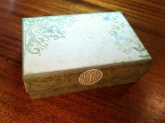 Greeting card box made with veranda ctmh