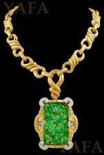 DAVID WEBB Jade and Diamond Necklace and Brooch
