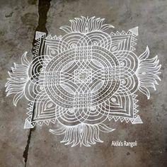 Akila's rangoli