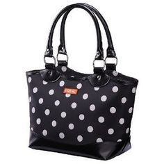 Black with Polka Dots Ladies Lunch Bag