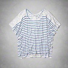 girls lace back drapey tee