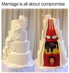 funny marriage memes marvel wedding cake