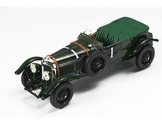 This Bentley Speed 6 (Le Mans Winner 1929) Diecast Model Car is Dark Green and features working wheels. It is made by IXO and is 1:43 scale (approx. 9cm / 3.5in long). Driven by Barnato and Birkin....