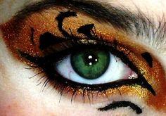 The perfect make up ! (Cool Make-up Designs) Diy Halloween Eye Makeup, Halloween Eyes, Halloween Looks, Halloween Costumes, Fairy Costumes, Halloween Halloween, Costume Makeup, Party Makeup, Mode Harry Potter