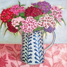 Contemporary still life Spring bouquet with hot cross buns easter by Halima Washington-Dixon Flowers In Vase Painting, Acrylic Flowers, Pottery Painting, Diy Painting, Art Beat, Bright Art, Floral Drawing, My Art Studio, Illustrations