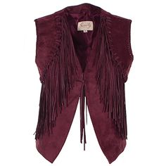 Scully Fringe Leather Vest at Maverick Western Wear