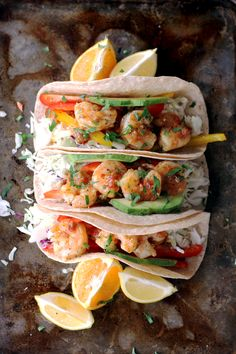 Rosemary Citrus Shrimp Tacos with Rosemary Citrus Sauce from Robert Rothschild Farm. Recipe created by melaniemakes.com.