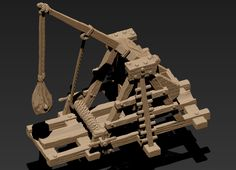 15mm Trebuche. Medieval War Engine for wargaming.