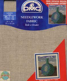 DMC - Lt Beige Brown 14 Ct Linen Fabric 14 x 18 in - Cross Stitch World