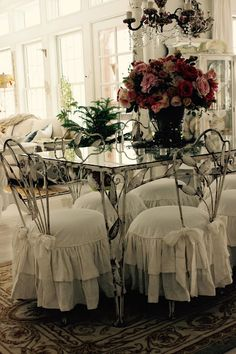 shabby chic ruffled slipcovers - Slipcovers by Shelley
