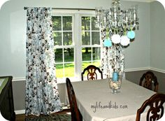 No sew Twin Sheet Curtains