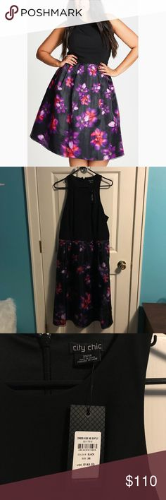 Kiss me Softly City Chic Kiss me softly dress. Size 14. Measurements are approximate. Bust 20 inches. Empire waist 17 inches. Length 45 City Chic Dresses
