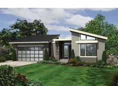 Eplans Contemporary-Modern House Plan - Unique Contemporary Layout - 3242 Square Feet and 4 Bedrooms from Eplans - House Plan Code HWEPL67301