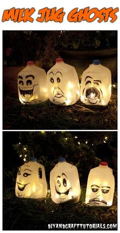 Halloween Fun! Halloween ghosts #Up cycle! You can win $100 for reusing material like plastic milk jugs for your Halloween costume. Learn more here: https://www.facebook.com/RumpkeCo?ref=hl