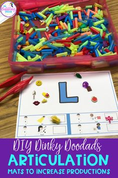 use Dinky doodad trinkets in speech therapy to work on a lot of different skills with students! FREE articulation mats to use with this I spy sensory bin. Preschool Speech Therapy, Articulation Therapy, Articulation Activities, Speech Language Pathology, Language Activities, Speech And Language, Classroom Activities, Fun Activities, Language School