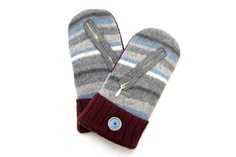 Felted Wool Sweater Mittens Made from Recycled by NorthlandWoolens, $45.00