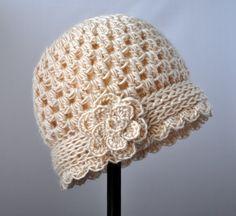 vintage flowered cloche pattern
