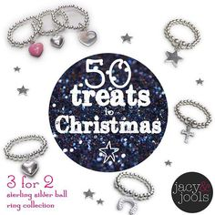 It's day 12 of our 50 Treats to Christmas Same rules - get in there quick offer lasts until midnight Clock's ticking!  #3for2 #rings #sterlingsilver #offer #Christmas #christmasgifts #Christmassorted #giftideas #jewellery #jacyandjools #50treatstoChristmas #Cheshire #online