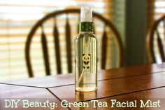 DIY Beauty: Green Tea Facial Mist. This easy tutorial will show you how to make a simple and calming green tea facial mist, perfect for energizing your skin mid-day.