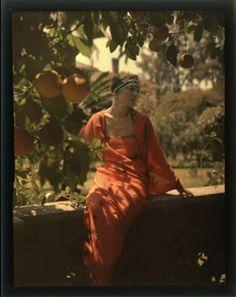 "Thomas Shields Clarke, Fernbrook, ca. 1910, Photographic autochrome, Pennsylvania Academy of the Fine Arts, Archives, Photo by Barbara Katus / Brian van Camerik. Featured on blog post ""Potato-based photographs of the Progressive Era."""