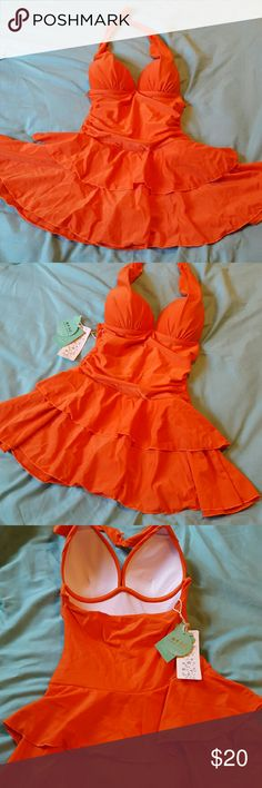 NWT NIP Adorable orange bathing suit! New, Never been worn adorable bathing suit. Orange, new in package, with tags. Pet free, smoke free home. Make offer! Swim One Pieces