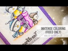 From Start to Finish: Inktense Pencil Coloring with Purple Onion Designs - YouTube