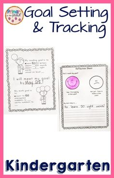 Goal setting for Kindergarten students can be difficult. These printable goal setting sheets for students are a great way to give your student a few options to pick from. There are also reflection sheets and blank goal setting sheets. Goal Setting Sheet, Goal Setting For Students, Goal Settings, Student Learning, Teaching Math, Kindergarten Goals, Goals Sheet, Homework Organization, Reading Goals