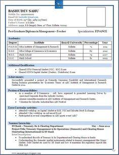 Resume For Freshers Priya Kumari Priyakumarirex1 On Pinterest