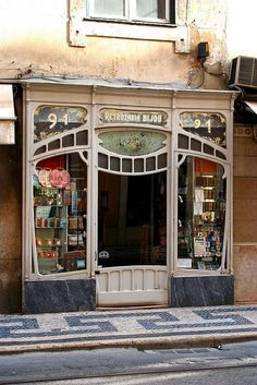 Art Nouveau shop front. Another inspiration for the entryway to my future tiny house.