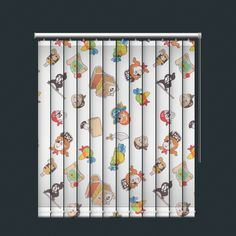 Pirate and Parrots Design Vertical Blind