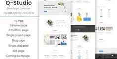 Q-Studio - One Page Creative Digital Agency Template