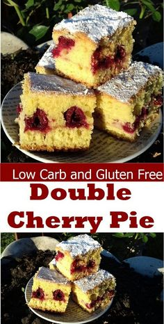 Low-Carb and Gluten-Free Double Cherry Pie