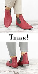 GUA 74 GUAD Think 84293-72 Damen Schlupf Booties rosso-rot