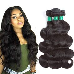 Pecwu Hair Brazilian Virgin Hair Body Wave 3 Bundles 100 Unprocessed Human for sale online Colored Hair Extensions, Braids With Extensions, Remy Hair Extensions, Wave 3, Body Wave, Irresistible Me Hair Extensions, Hair Products Online, Great Hair, 100 Human Hair